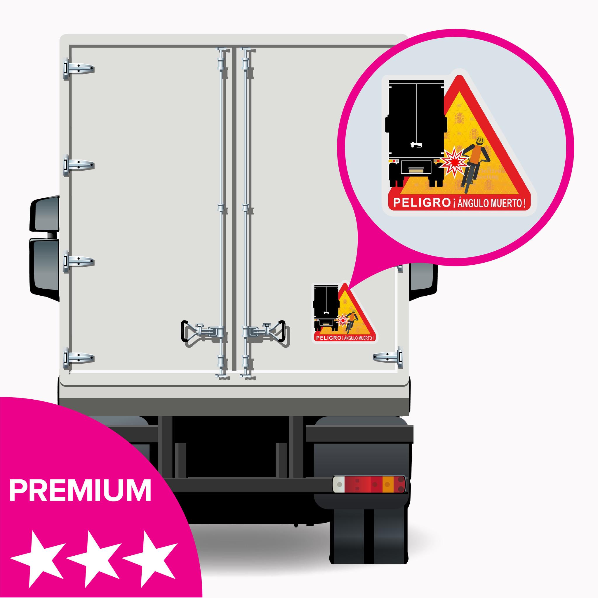 Angle mort - Autocollant Peligro ángulos muertos Truck Spain - PREMIUM