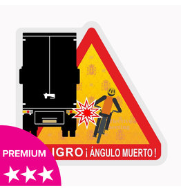 Punto ciego - Peligro ángulos muertos Truck Spain pegatina - PREMIUM