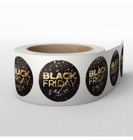 Blackfriday-stickers-op-rol (1000 stuks) Goud