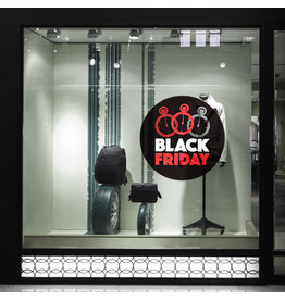 Etiqueta engomada de la ventana interior de Blackfriday - Copy