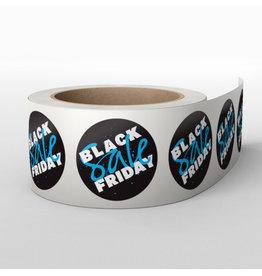 Blackfriday stickers op rol (1000 stuks) Blauw