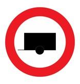 Gesloten voor motorvoertuigen met aanhangwagen