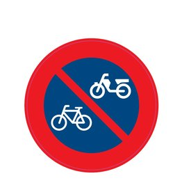 Prohibition placing bicycles and scooters