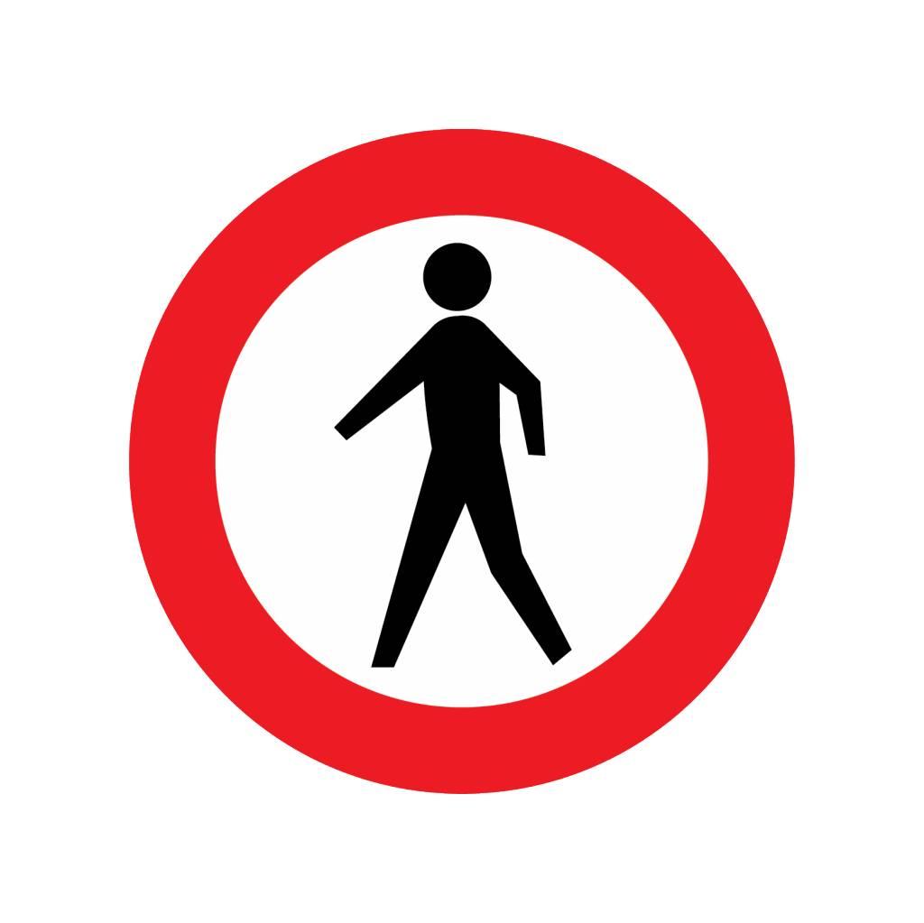 Gesloten voor voetgangers