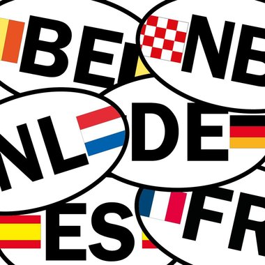 Länderflaggen Sticker