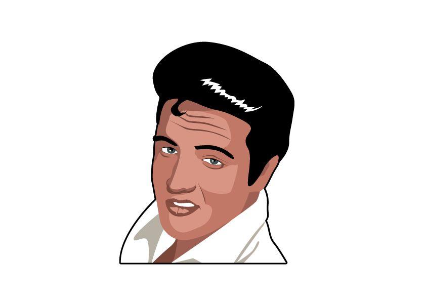 Muursticker Elvis