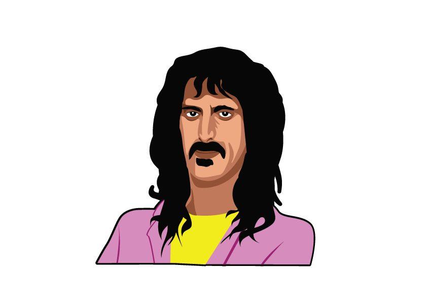 Muursticker Frank Zappa