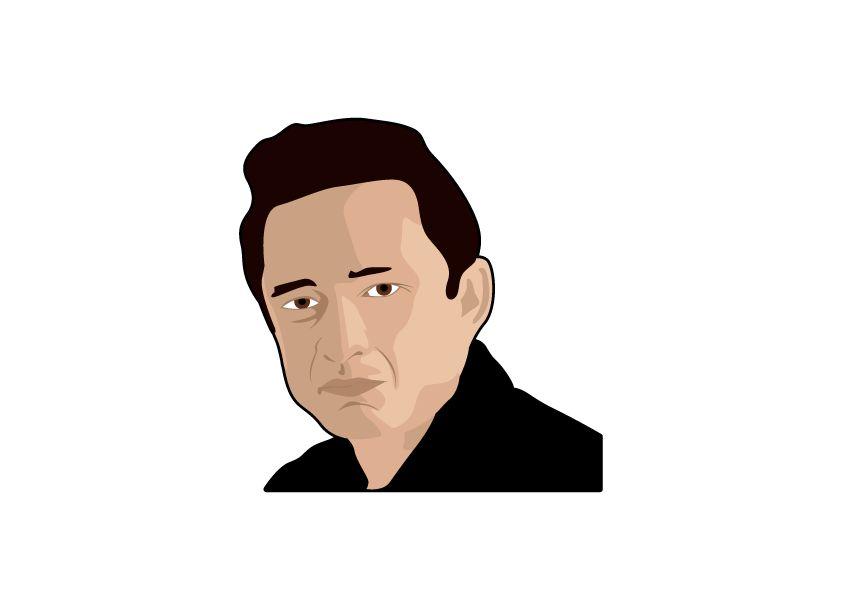 Muursticker Johnny Cash