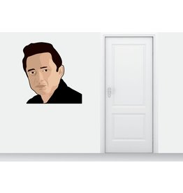 Muursticker Johnny Cash