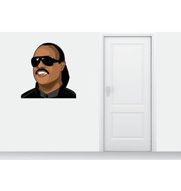 Muursticker Stevie Wonder