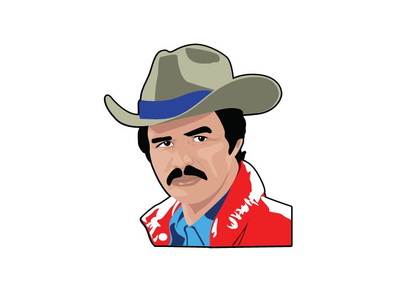 Muursticker Burt Reynolds