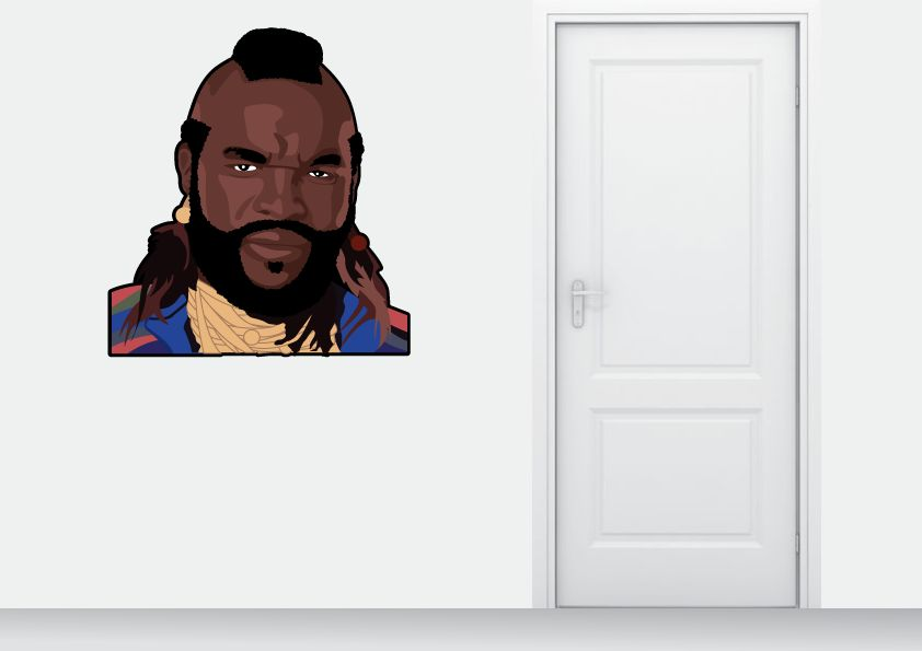 Muursticker BA Baracus full colour