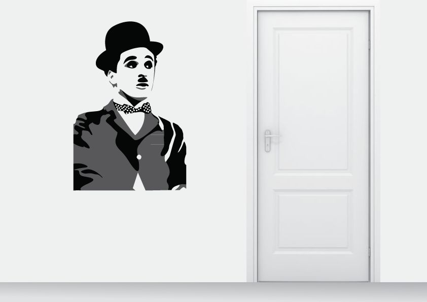 Muursticker Charlie Chaplin