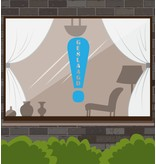 Erfolgreiche Fensteraufkleber - Exclamation