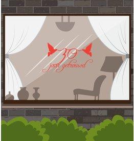 Hochzeitstag-Fensteraufkleber - Lovebirds