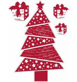 Kerstboom rood