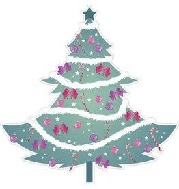 Weihnachtsbaum mit Girlanden