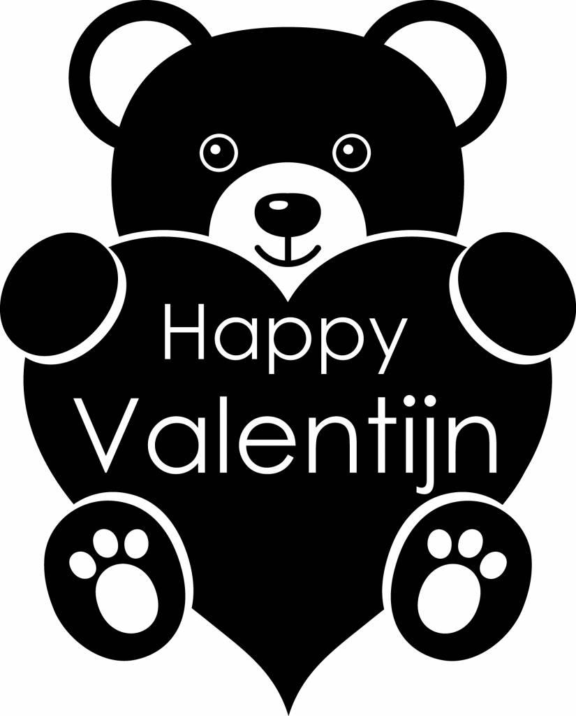 Valentijnsdag - Teddybeer met een hartje