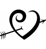 Valentijnsdag - Beschoten hart