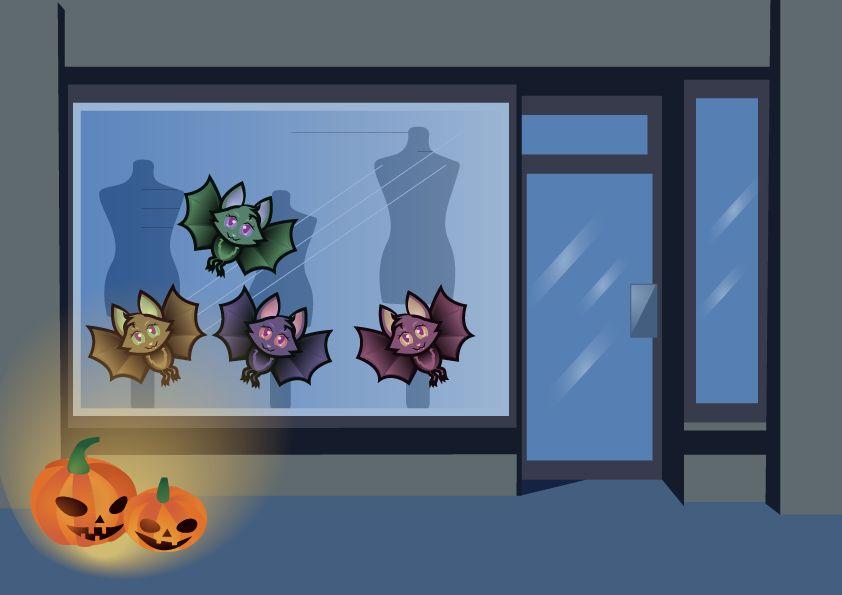 Fensteraufkleber lustige Fledermäuse