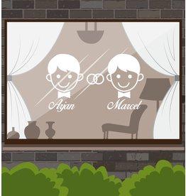 Trouwdag - Man & man met ringen