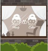 Trouwdag - Vrouw & vrouw met ringen