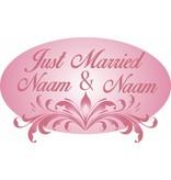 Trouwdag - Sierlijke roze ornamenten