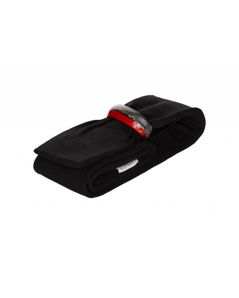 Embracelet mit Schal in rot/schwarz - Schwarz/Rot Murano Glass Ring