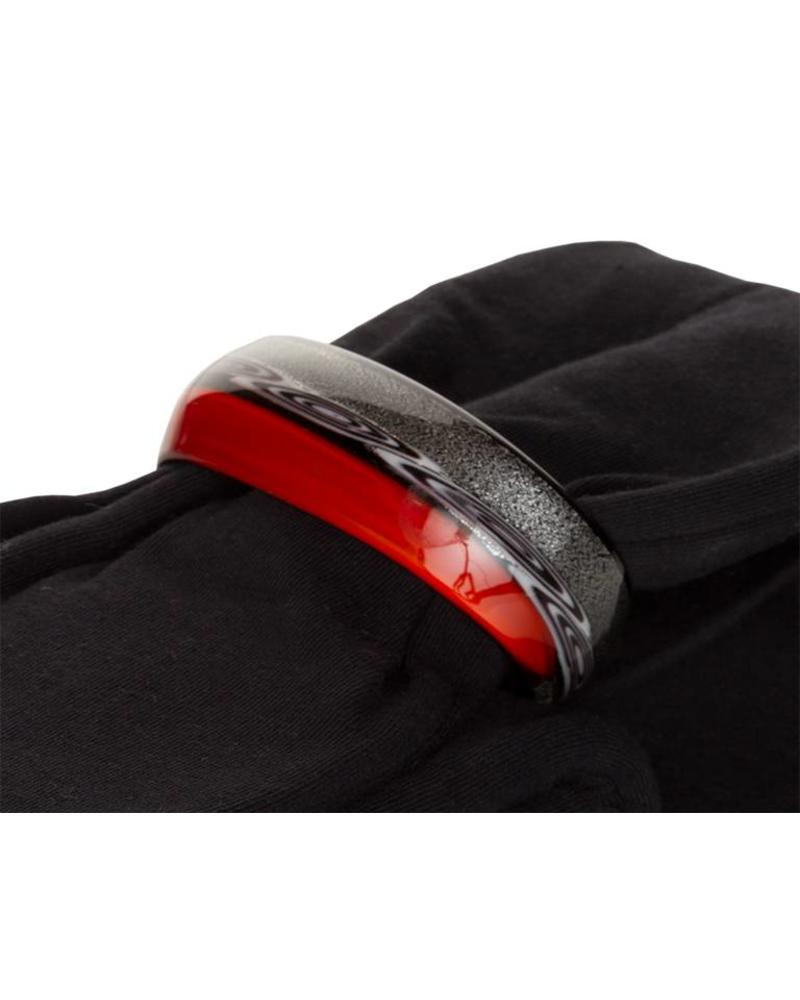 Embrace Embracelet con sciarpa in black/red Murano Glass Ring