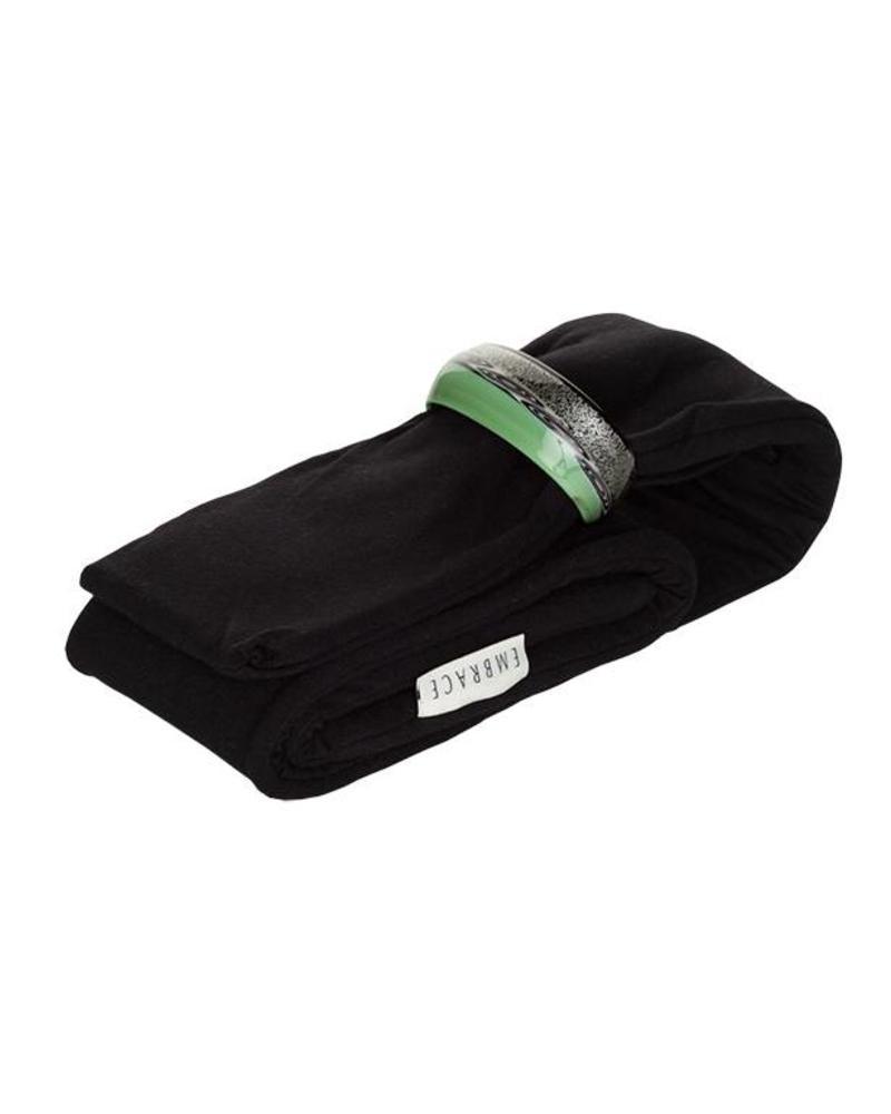 Embrace Embracelet mit Schal in schwarz/grün Murano Glass Ring