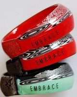 Embrace Embracelet in red - Rot Murano Glass Ring