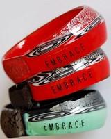 Embrace Embracelet in smaragdgreen/black murano glass bangle