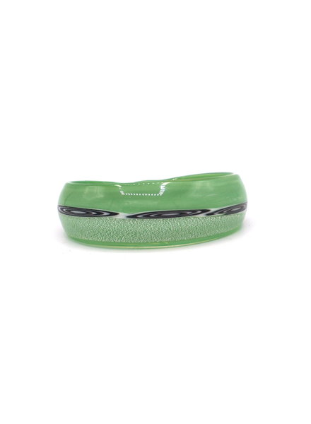 Embrace Embracelet in smaragdgreen/black murano glass bangle