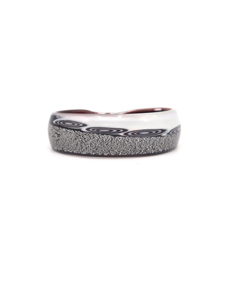 Embrace Embracelet in bianco/nero Murano Glass Ring