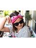 "Kopfband ""Fantasy"" in Schleifenoptik drapiert mit pinkfarbenen Samtband"