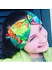 """Exotic"" headband in loop-look with red velvet ribbon"