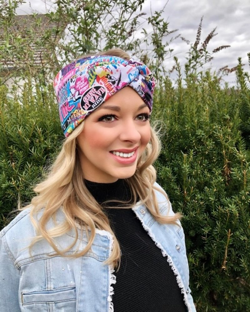 "headband ""Pacific Coast Magenta"" with knot detail"