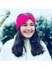 "Embrace ""Magenta"" headband in loop-look with pink velvet ribbon"