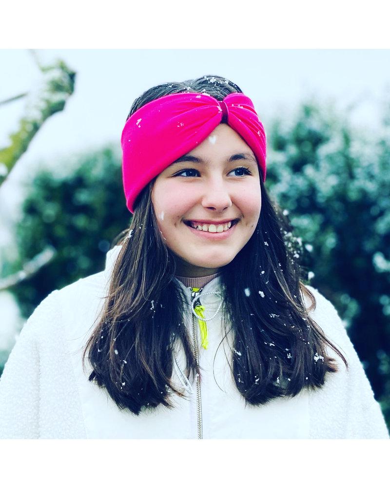 """Embrace Kopfband """"Magenta"""" in Schleifenoptik mit pink farbenen Samtband"""
