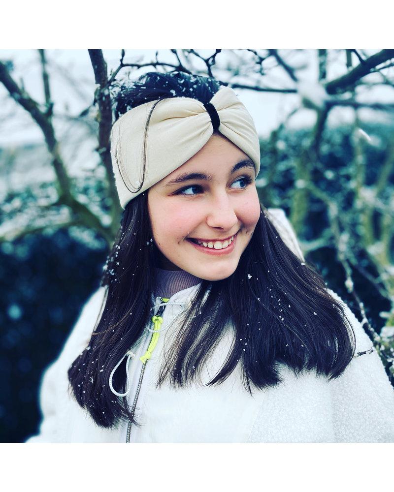"""Embrace Kopfband """"Crema"""" in Schleifen Optik mit schokobraunen Samtband"""