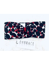 """Embrace """"Red dot"""" headband in loop-look with red velvet ribbon"""