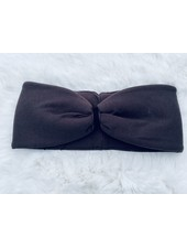 "Embrace Headband ""Schoko"" with chocolate in loop-look with  velvet ribbon"