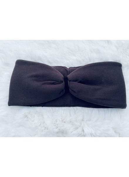 """Embrace Headband """"Schoko"""" with chocolate in loop-look with  velvet ribbon"""