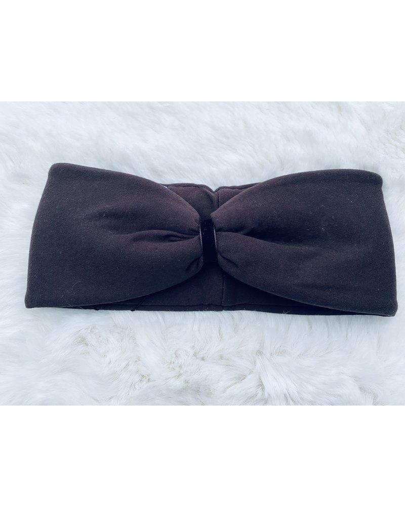 "Embrace Headband ""Schoko"" with chokolate velvet ribbon"