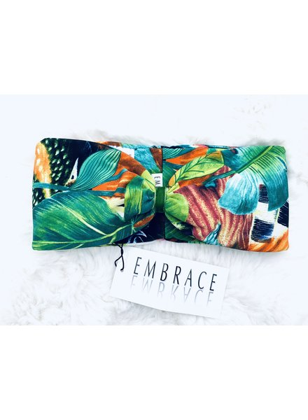"Embrace Kopfband ""Exotic"" in Schleifenoptik drapiert mit grünen Samtband"