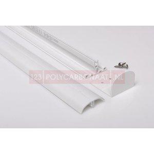 Pergolux White Tussenprofiel wit compleet met PVC clips