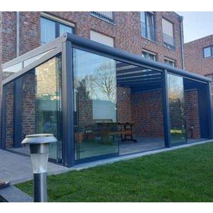 Glazen schuifwanden voor veranda, overkapping, serre, tuinkamer en afdak