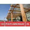 Polycarbonaat dak opbouw compleet