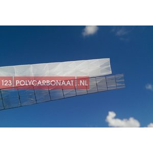 Skylux Polyclear Polycarbonaat plaat 16mm TOP X5 €32,27 per m2  98-210cm breed 200-700cm lang