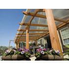 • Polycarbonaat dak compleet met afdeklijsten op rubber